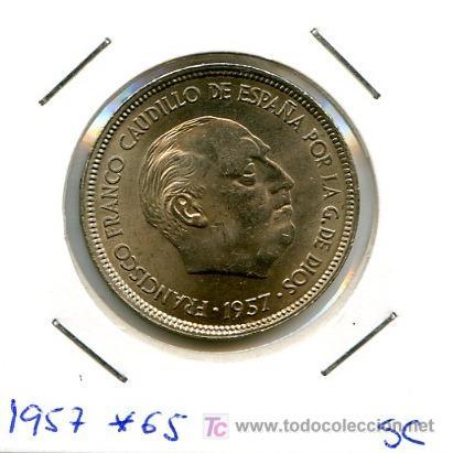 MONEDA DE 25 PESETAS DE 1957 *65 S/C (Numismática - España Modernas y Contemporáneas - Estado Español)