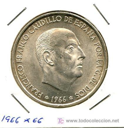 MONEDA DE PLATA DE 100 PESETAS DE 1966 *66 S/C (Numismática - España Modernas y Contemporáneas - Estado Español)