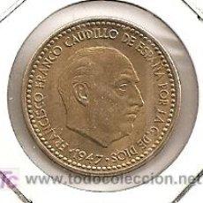 Monedas Franco: PESETA DE FRANCO DE 1947 ESTRELLA 54 SC-. Lote 26268317