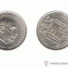 Monete Franco: 1 UNIDAD FRANCO 5 PTES 1949 / 50. Lote 80177022