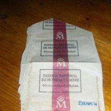 Monedas Franco: FABRICA NACIONAL DE MONEDA Y TIMBRE. 40 MONEDAS DE 25 PESETAS.. Lote 20327548
