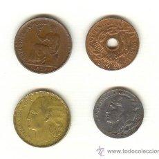 Monedas Franco: 3-GUERRA CIVIL II REPUBLICA CUATRO MONEDAS DISTINTAS ACUÑADAS EN CASTELLÓN Y ASPE ALICANTE VALENCIA . Lote 26319720