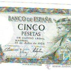 Monedas Franco: CINCO PESETAS 22 DE JULIO DE 1954 . Lote 21037546