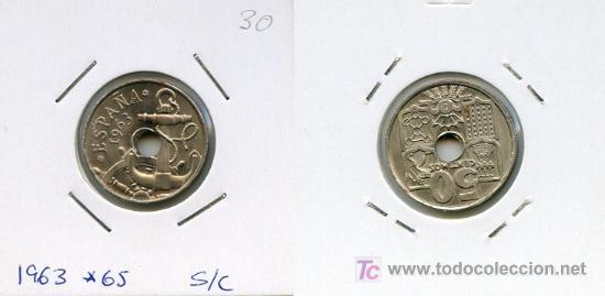 50 CENTIMOS 1963 *65 (Numismática - España Modernas y Contemporáneas - Estado Español)