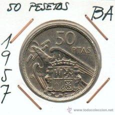 Monedas Franco: BA ACUÑACION ESPECIAL. 50 PTAS AÑO 1957 EMITIDA POR FRANCISCO FRANCO. MUY ESCASA. Lote 27078172