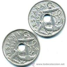 Monedas Franco: 2 MONEDAS 50 CENTIMOS 1949-53. Lote 26384206