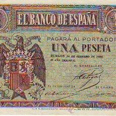 Monedas Franco: UNA PESETA 28 DE FEBRERO DE 1938. Lote 27321398