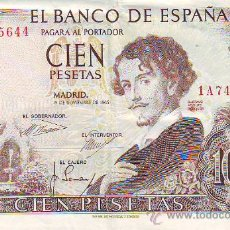 Monedas Franco: CIEN PESETAS 19 DE NOVIEMBRE DE 1965. Lote 21915329