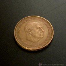 Monedas Franco: MONEDA 1 PESETA 1966 *69. Lote 21931694