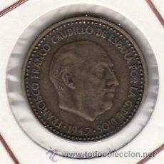Monedas Franco: .MONEDA ESPAÑA FRANCO 1 PTA 1947*48 EBC. Lote 22959416