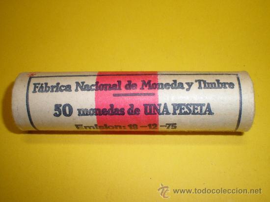 CARTUCHO DE LA FÁBRICA NACIONAL DE MONEDA Y TIMBRE DE 1 PESETA DE 1975*78 (Numismática - España Modernas y Contemporáneas - Estado Español)