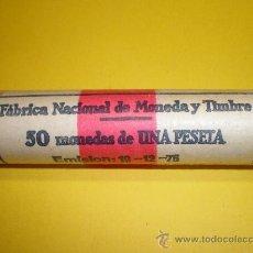 Monedas Franco: CARTUCHO DE LA FÁBRICA NACIONAL DE MONEDA Y TIMBRE DE 1 PESETA DE 1975*78. Lote 24296522