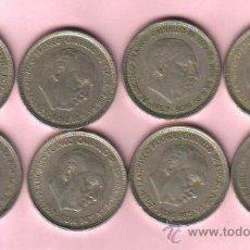 Monedas Franco: ESPAÑA ESTADO ESPAÑOL (FRANCO) - LOTE DE 8 MONEDAS DE 50 PESETAS 1957 (*58). Lote 24767389