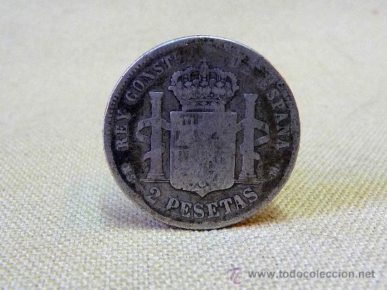 Monedas Franco: MONEDA ANTIGUA, DE 2 PESETAS, 1881, ALFONSO XII, DE PLATA - Foto 3 - 25024728
