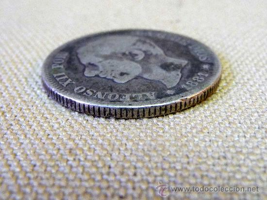 Monedas Franco: MONEDA ANTIGUA, DE 2 PESETAS, 1881, ALFONSO XII, DE PLATA - Foto 2 - 25024728