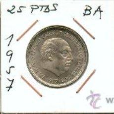Monedas Franco: EXCEPCIONAL SERIE BA. EMISION ESPECIAL DE MONEDAS DE 5, 25 Y 50 PTAS.. Lote 27320470