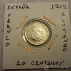 Monedas Franco: MONEDA DE 10 CENTIMOS DE 1959 SIN CIRCULAR. Lote 28303949