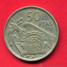 Monedas Franco: MONEDA 50 PESETAS BA , EXPOSICION BARCELONA , RARA , MBC , ORIGINAL M858. Lote 28362230