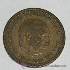 Monedas Franco: PESETA 1947 ESTRELLA 49. Lote 28524153