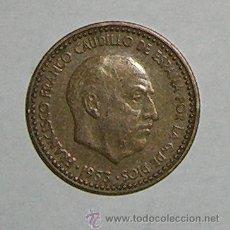 Monedas Franco: PESETA 1953 ESTRELLA 61. Lote 28546725