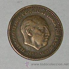 Monedas Franco: PESETA 1953 ESTRELLA 60. Lote 28639895