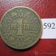 Monedas Franco: ESPAÑA , 1 PESETA 1944 , FRANCISCO FRANCO , ESTADO ESPAÑOL , FRANQUISMO . Lote 29792729
