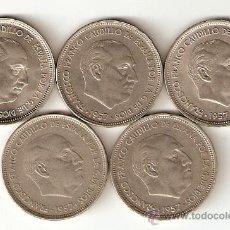 Monedas Franco: LOTE DE 5 MONEDAS. 50 PESETAS 1957 *71 MAS *58 *59 *60 *67 NO DEJES DE VERLAS. Lote 29891221