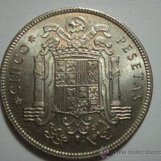Monedas Franco: PRECIOSA MONEDA DE 5 PESETAS CINCO PESETAS FRANCO TAMAÑO GRANDE AÑO 1949 * 50 EN EBC+. Lote 30292434