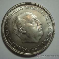 Monedas Franco: PRECIOSA MONEDA DE 50 PESETAS AÑO 1957 * 58 CINCUENTA PESETAS FRANCO SIN CIRCULAR-. Lote 41040691