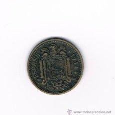 Monedas Franco: 1 PESETA ESTADO ESPAÑOL 1944 LEYENDAS VISIBLES. Lote 30296578