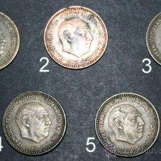 Monedas Franco: LOTE DE 5 MONEDAS DE 1 PESETA - 1963 - 65 - FRANCISCO FRANCO . Lote 31793562