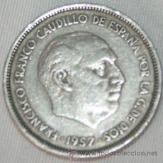 Monedas Franco: 25 PESETAS - 1957 - 68 - FRANCISCO FRANCO . Lote 31813104