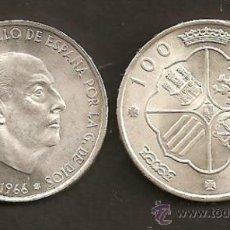 Monedas Franco: 100 PESETAS 1966 EST. 19-68. Lote 32026470