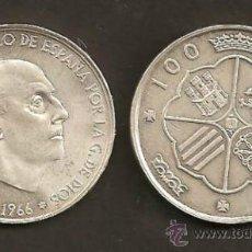 Monedas Franco: 100 PESETAS 1966 EST. 19-67. Lote 32026655