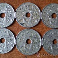 Monedas Franco: LOTE 6 MONEDAS 50 CÉNTIMOS 1949. Lote 32464706