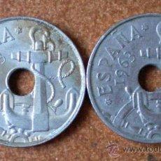 Monedas Franco: LOTE 2 MONEDAS 50 CÉNTIMOS 1963. Lote 32464757