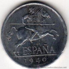 Monedas Franco: CINCO CÉNTIMOS AÑO 1940, EBC. Lote 33487503