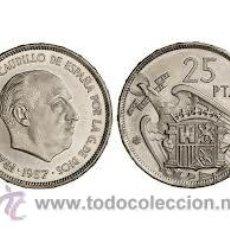 Monedas Franco: 25 PESETAS 1957 *75 DE CARTERA. Lote 33692363