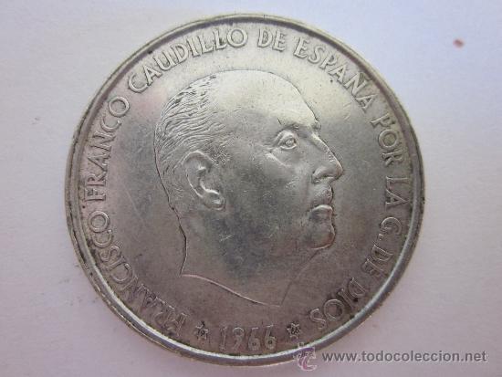 CIEN PESETAS DE FRANCO (PLATA) 1966. (Numismática - España Modernas y Contemporáneas - Estado Español)