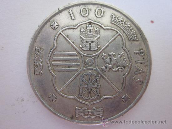 Monedas Franco: Cien pesetas de Franco (plata) 1966. - Foto 2 - 33911083