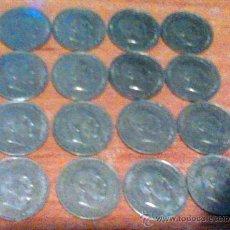 Monedas Franco: 16 MONEDAS IGUALES DE 50 CENTIMOS 1966 ESTRELLAS 1973. Lote 34112212