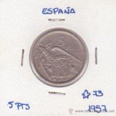 Monedas Franco: 5 PESETAS 1957 *73. Lote 269336698