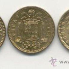 Monedas Franco: 3 MONEDAS DE 1 PSETA S/C 1963*64*65*66. Lote 160508754