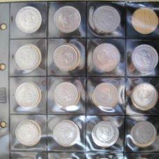 Monedas Franco: SERIE COMPLETA DE 25 Y 50 PESETAS 1957 FRANCO ( 5 Y 10 DUROS ). Lote 35184623