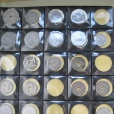 Monedas Franco: SERIES DE CENTIMOS DE FRANCO 21 MONEDAS DISTINTAS + REGALO 2,5 PTAS. Lote 35304158