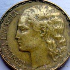 Monedas Franco: ESPAÑA - 1 PESETA 1937 - REPUBLICA ESPAÑOLA. Lote 35316225