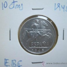 Monedas Franco: 10 CENTIMOS 1945 EBC+. Lote 35547375