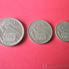 Monedas Franco: -MONEDAS DE ESPAÑA-FRANCO-1957*58-50.25.5 PESETAS-.. Lote 36009891