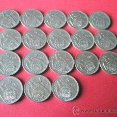 Monedas Franco: -MONEDAS DE ESPAÑA-SERIE COMPLETA-5 PESETAS-FRANCO-1957-18 MONEDAS-.. Lote 36017312