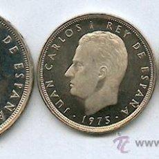 Monedas Franco: 3 MONEDAS DE 1, 5 Y 25 PESETAS TODAS DEL AÑO 1975*79 SIN CIRCULAR Y CALIDAD PROOF. Lote 36276082
